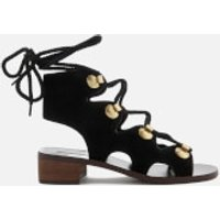 See By Chloe Women's Suede Lace Up Sandals - Black - UK 3 - Black