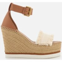 See by Chloe See By Chloé Women's Canvas Wedged Sandals - Denim - UK 8 - Brown