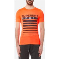 Superdry Sport Mens Athletic Tech T-Shirt - Fluro Orange - S - Orange