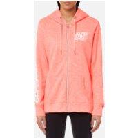 Superdry Sport Womens Essentials Zip Hoody - Vivid Coral Marl - S - Pink