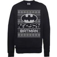 DC Comics Originals Batman Knit Black Christmas Sweatshirt - L - Black