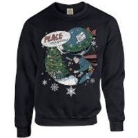 DC Comics Originals Superman Peace On Earth Black Christmas Sweatshirt - XL - Black