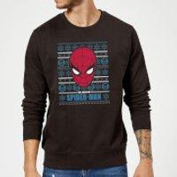 Marvel Comics The Amazing Spider-Man Face Black Christmas Sweatshirt - M - Black