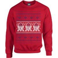 Star Wars R2D2 Christmas Knit Red Christmas Sweatshirt - M - Red