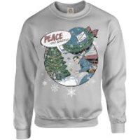 DC Comics Originals Superman Peace On Earth Grey Christmas Sweatshirt - M - Grey
