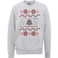 Star Wars Empire Knit Grey Christmas Sweatshirt - L - Grey