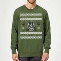 Star Wars Darth Vader Christmas Knit Green Christmas Sweatshirt - S - Green