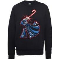 Star Wars Candy Cane Darth Vader Black Christmas Sweatshirt - L - Black