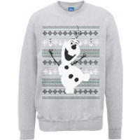 Disney Frozen Christmas Olaf Dancing Grey Christmas Sweatshirt - S - Grey