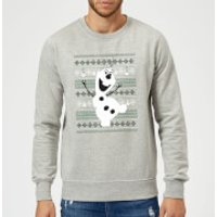 Disney Frozen Christmas Olaf Dancing Grey Christmas Sweatshirt - XL - Grey