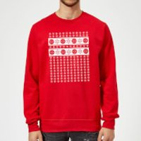 Marvel Deadpool Christmas Snowflakes Red Christmas Sweatshirt - M - Red