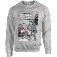 DC Comics Originals Superman Action Comics Grey Christmas Sweatshirt - XXL - Grey