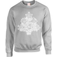 Marvel Comics Marvel Shields Christmas Tree Grey Christmas Sweatshirt - S - Grey