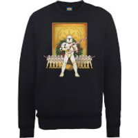 Star Wars Candy Cane Stormtroopers Black Christmas Sweatshirt - L - Black