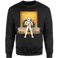 Star Wars Candy Cane Stormtroopers Black Christmas Sweatshirt - L - Black