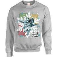 Marvel Comics Black Widow Captain America Grey Christmas Sweatshirt - S - Grey