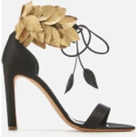Rupert Sanderson Women's Eden Heeled Sandals - Black Satin/Gold Silk - UK 3 - Black