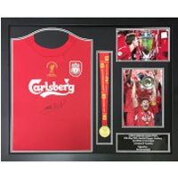 Steven Gerrard Signed and Framed Istanbul Shirt and Medal