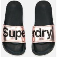 Superdry Women s Superdry Pool Slide Sandals   Metallic Rose   M  UK 5 6    Metallic