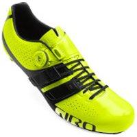 Giro Factor Techlace Road Cycling Shoes - Yellow/Black - EU 46/UK 11 - Yellow