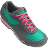 Giro Petra Women's MTB Cycling Shoes - Turquoise/Bright Pink - EU 41/UK 7 - Blue
