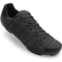 Giro Republic R Road Cycling Shoes - Black/Charcoal Leather - EU 43/UK 8.5 - Black