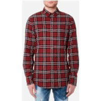 Dsquared2 Men's Wired Collar Check Shirt - Red/Blue - L - Red/Blue