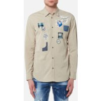 Dsquared2 Men's Scout Badges Relax Dan Fit Shirt - Stone - L - Stone