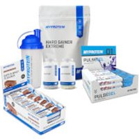 Myprotein Mass Gain & Bulking Bundle - Chocolate Chip - Berry Blast - Chocolate Smooth
