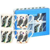 Paradise Birds Puffins and Penguins 4 Piece Mug Gift Set
