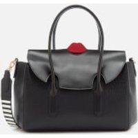 Lulu Guinness Women's Flo Pop Up Lip Cross Body Bag - Black