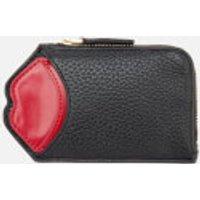 Lulu Guinness Womens Liliana Pop Up Lip Wallet - Black/Red