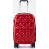 Lulu Guinness Small Lips Hardside Spinner Case - Classic Red