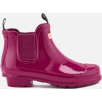 Hunter Kids' Original Gloss Chelsea Boots - Dark Ion Pink - UK 3 Kids - Pink
