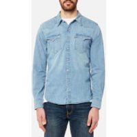 Levis Mens Barstow Western Shirt - Brooklyn Stretch Light - M - Blue