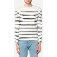 Levis Mens Long Sleeve Mission T-Shirt - Plaited Stripe Marshmallow/Dress Blues - M - White