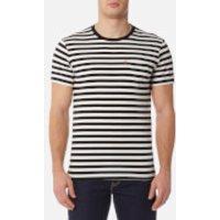 Levis Mens Short Sleeve Set-In Sunset Pocket Shirt - Cooler Stripe Black/Marshmallow - S - Black