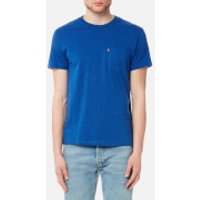 Levi's Men's Short Sleeve Set-In Sunset Pocket Shirt - True Blue Heather - M - Blue