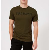 Reebok Mens CrossFit Pokras Short Sleeve T-Shirt - Army Green - XL - Green