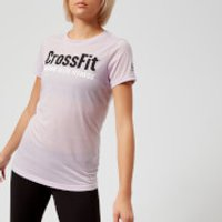 Reebok Women's CrossFit Speedwick Short Sleeve T-Shirt - Quartz-Ash - M - Purple