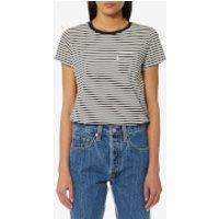 Levis Womens The Perfect Pocket T-Shirt - Gina Obsidian/Cloud Dancer - XS - Multi
