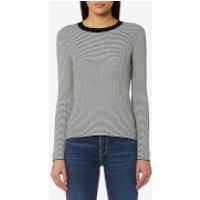 Levis Womens Fine Rib Pullover Jumper - Golden Gate Stripe & Cloud Dancer - M - Multi
