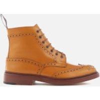 Tricker's Men's Stow Leather Brogue Lace Up Boots - Acorn Antique - UK 10 - Tan