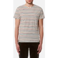 Oliver Spencer Men's Breton T-Shirt - Oatmeal/Multi - L - Beige/Multi