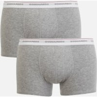 db779ff1177b MEN'S JERSEY COTTON STRETCH TRUNK TWIN PACK BOXERS - LIGHT GREY MARL