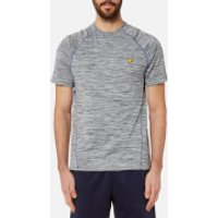 Lyle & Scott Mens Jones Training T-Shirt - Mid Grey Marl - M - Grey