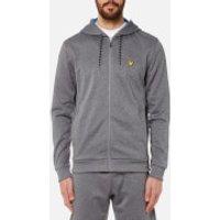 Lyle & Scott Men's Hill Fleece Hooded Track Top - Mid Grey Marl - L - Grey