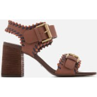 See By Chloe Women's Leather Blocked Heeled Sandals - Brown - UK 4 - Brown