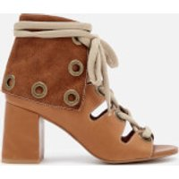 See By Chloe Women's Calf Leather Heeled Sandals - Cuoio - UK 4 - Tan