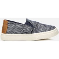 TOMS Toddlers' Luca Chambray Slip-On Trainers - Navy Striped - UK 5 Toddler - Navy
